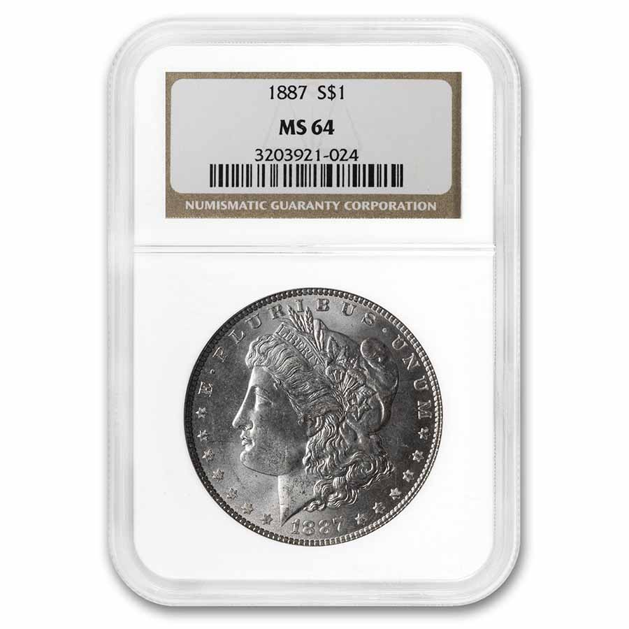 1887 Morgan Dollar MS-64 NGC